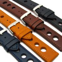 Grand Prix Leather Watch Strap 24mm 22mm 20mm Coloured Stitching C028